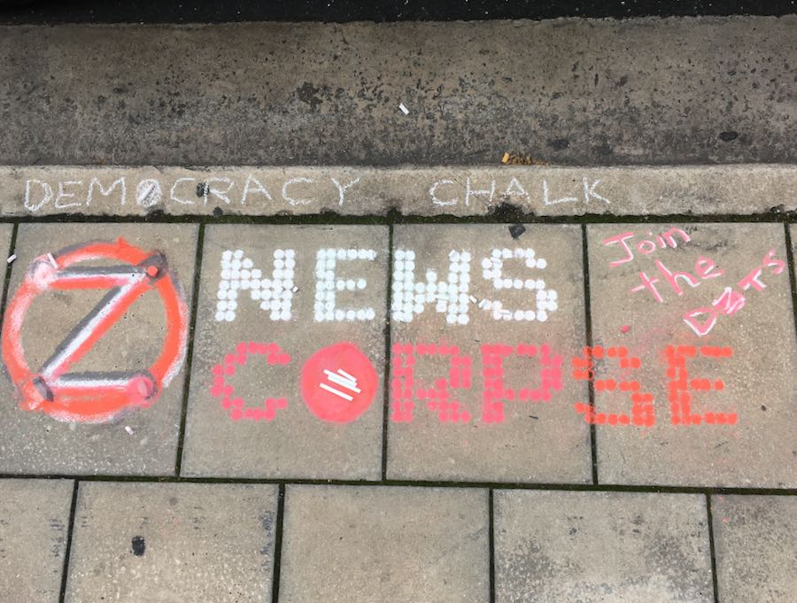"Example: ""News Corpe' in Chalk"