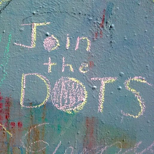 Example: Join The DOTS on wall (pink chalk)
