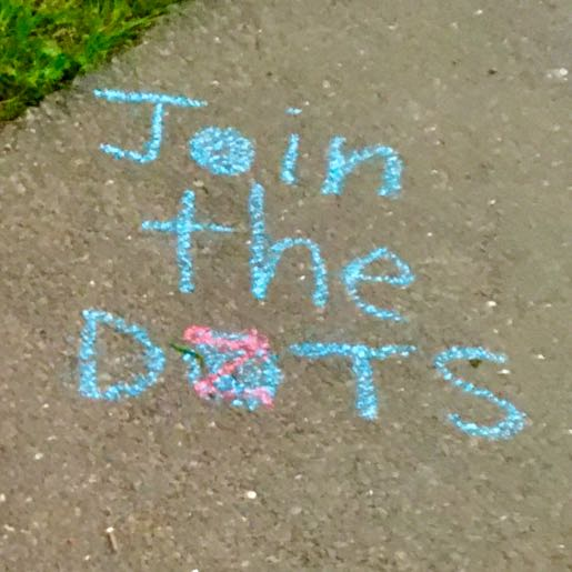 Example: Join The DOTS on tarmac (Blue chalk)